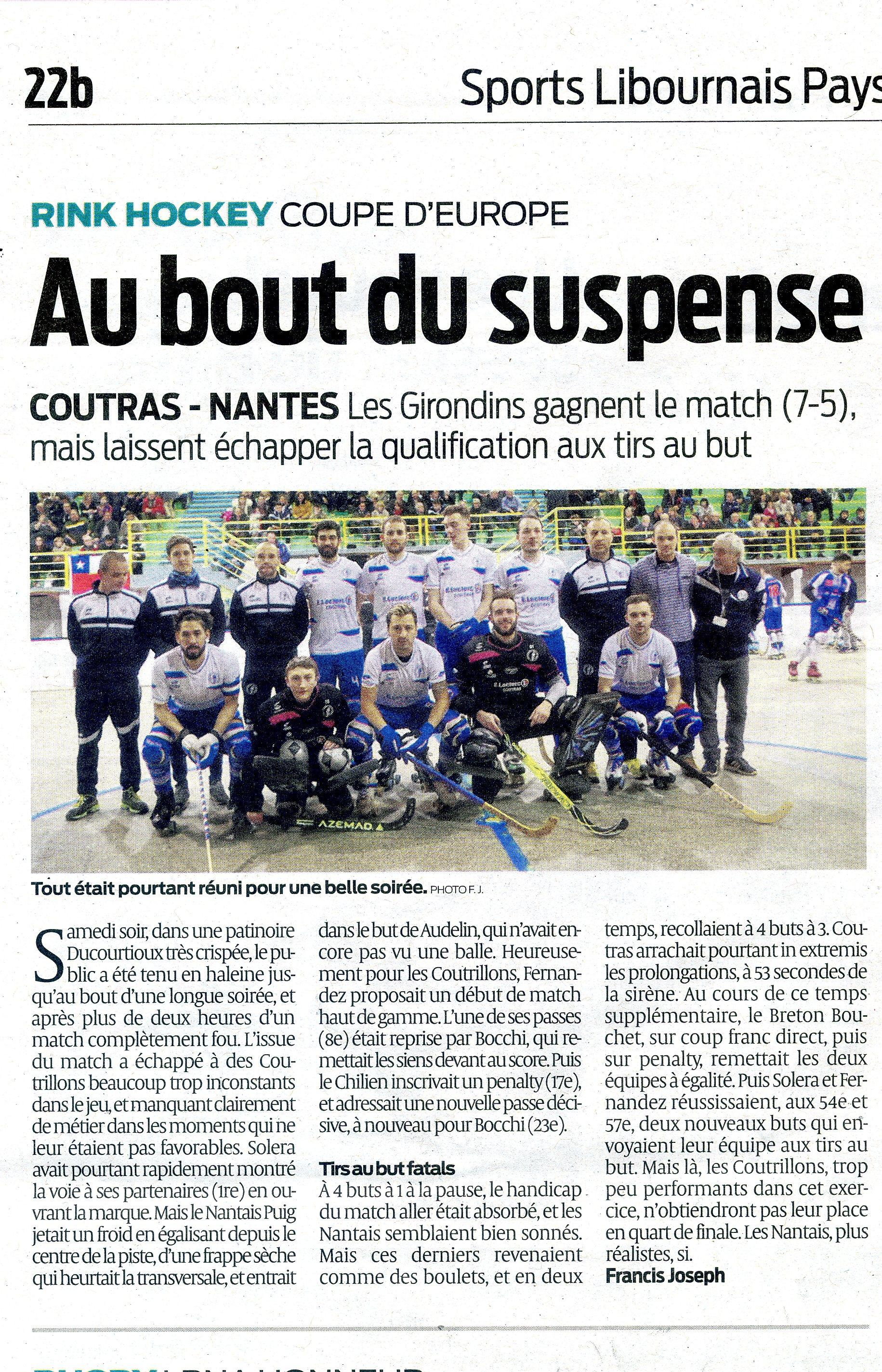 Coutras:Nantes CE SO363