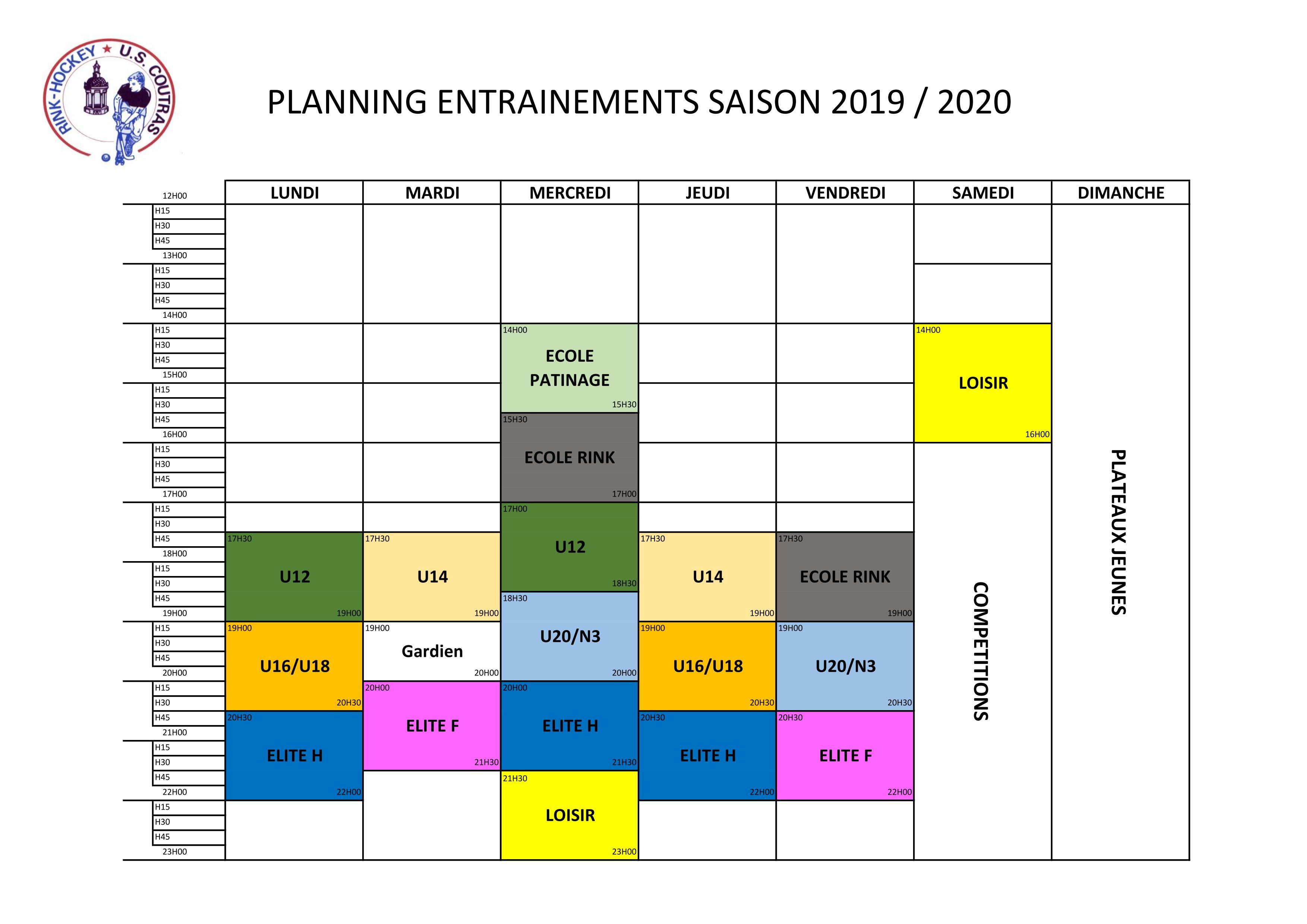 Planning 2019 2020